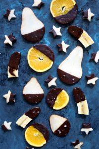 Suklaadippi ja hedelmät